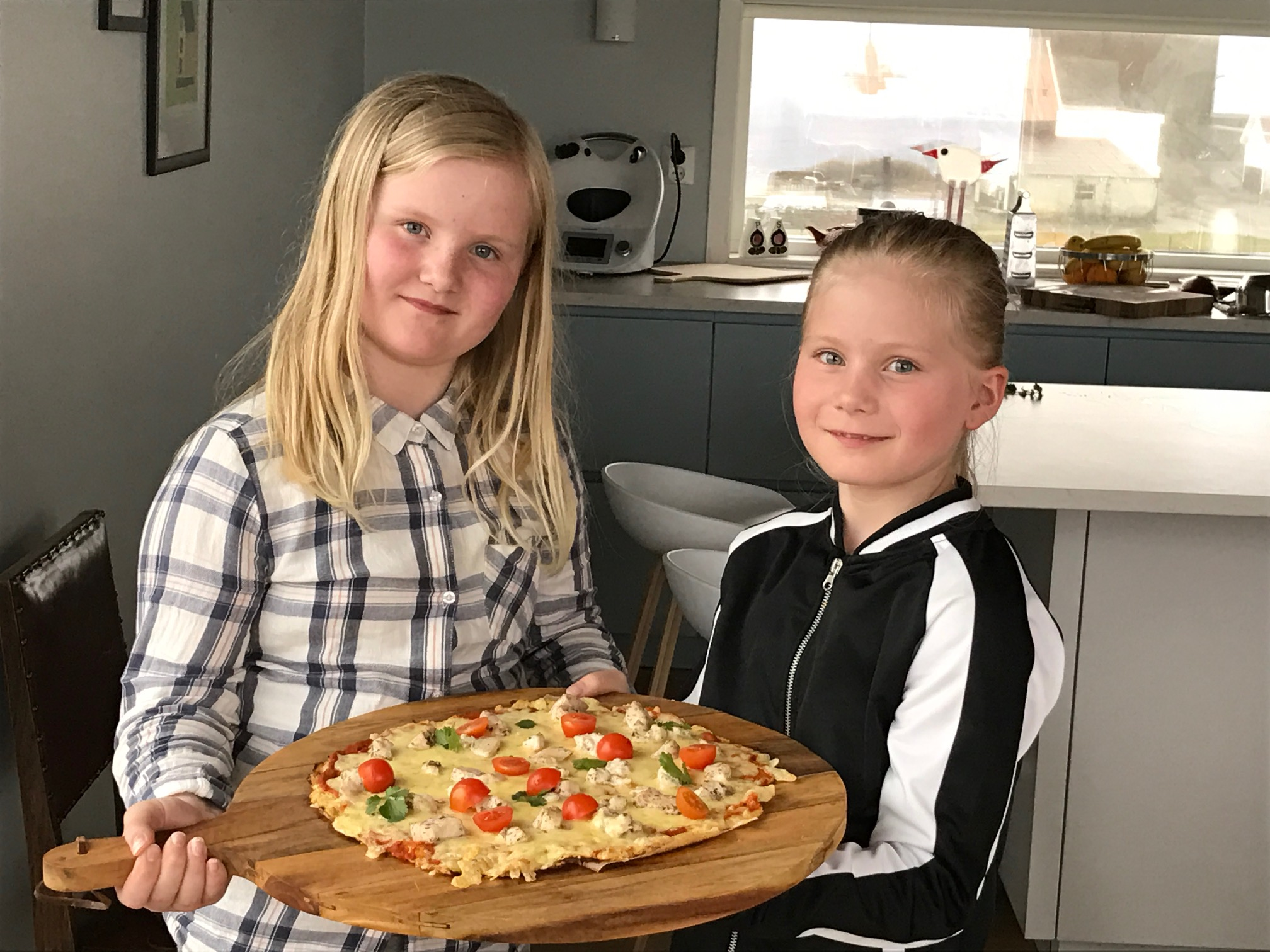 Blomkålpizza med kylling
