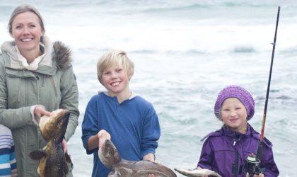 fisk på stranda